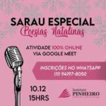 Sarau Especial de Poesias Natalinas do Instituto Pinheiro